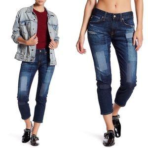 AG Ex-Boyfriend Slim Patchwork Jeans